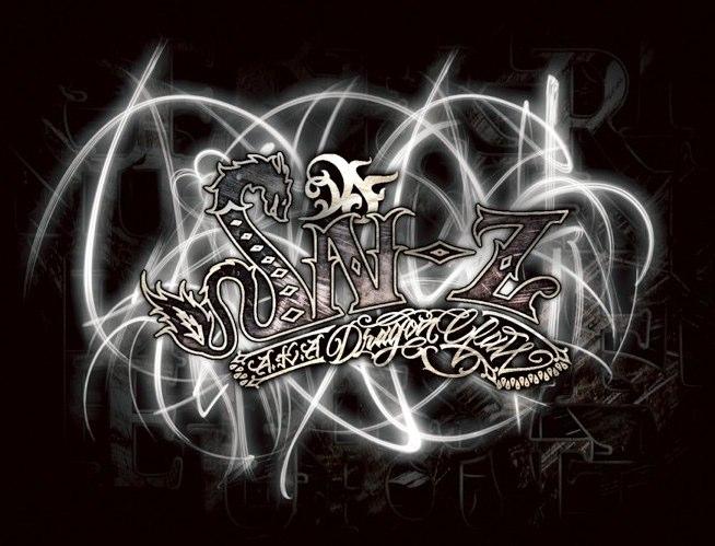 DJ SN-Z CD COVER JACKET[ロゴエフェクトを担当] logo by adu