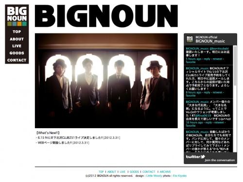 BIGNOUN [WEBSITE / 2012] http://bignoun.com