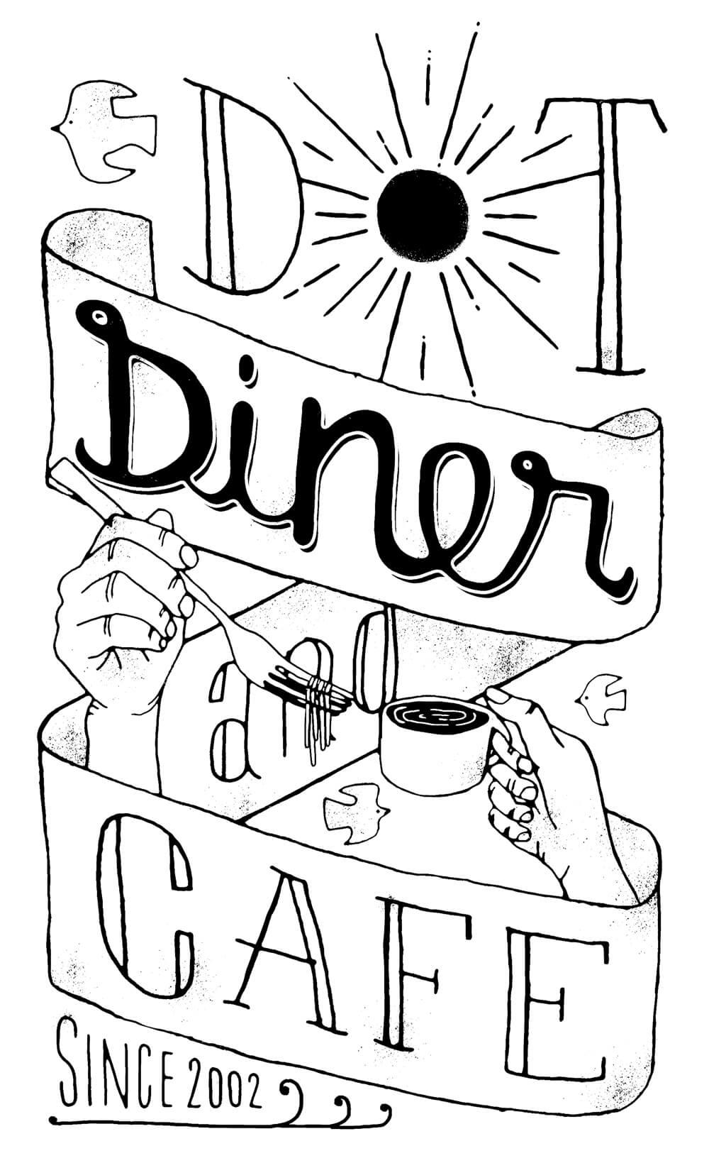 DOT DINER [T-SHIRTS]